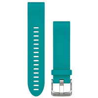 QiuckFit 20 Watch Bands, Turquoise Silicone